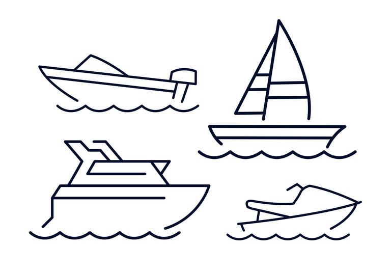 Fritidsbåter icon blått