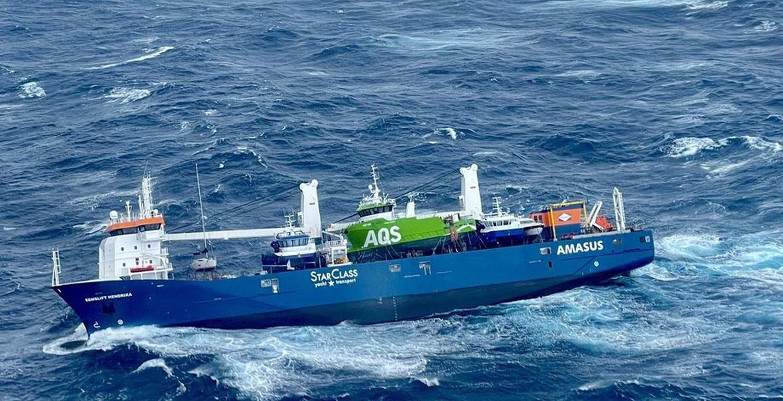 Hvordan gikk det med seilbåten på Lasteskipet «Eemslift Hendrika» ?